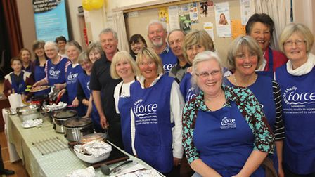 Food for Force-Volunteers are pictured at the Big Breakfast Forece cancer charity event held in Wood