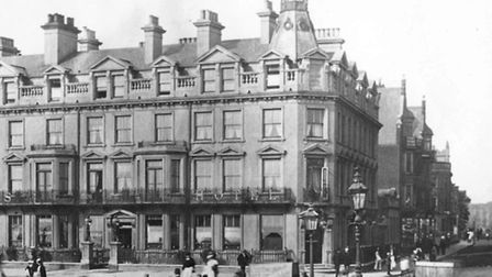 The New Beach Hotel pictured around 1900 when it was known as The Queens Hotel, one of the most lavi