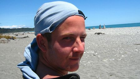 Adam Taylor who died in the Claxton Engineering accident at Great Yarmouth pictured in New Zealand.