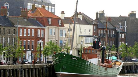 The Lydia Eva moored at South Quay, Great Yarmouth.Photo: Andy DarnellCopy: Anthony CarrollFor: EDPA