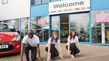Staff at CarShop get set for the Norwich Change a Life Charity 5K Race in aid of Dreamflight to send
