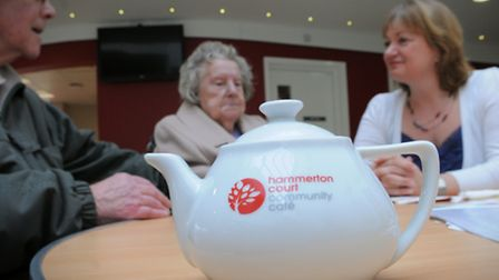 Age UK Norfolk's drop in cafe initiative taking place at Hammerton Court, Norwich. Photo: Steve Adam