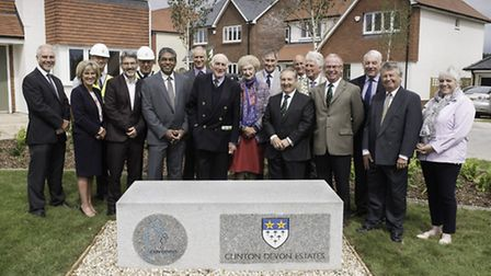 Lord Clinton and Lady Clinton are joined by representatives from Cavanna Homes, Budleigh Salterton T