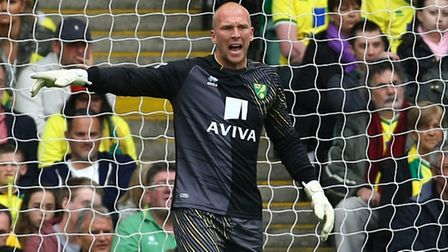 The welcome sight of John Ruddy back between the sticks for Norwich City. Picture: Paul Chesterton /