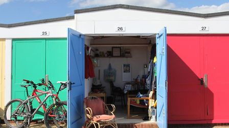 Exmouth beach hut. Photo by Simon Horn. Ref exe 5226-24-14SH To order your copy of this photograph g