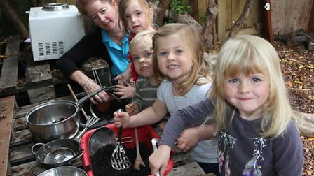 ABC Nursery on Exeter Road has been praised by Ofsted for their efforts. Children are pictured enjoy