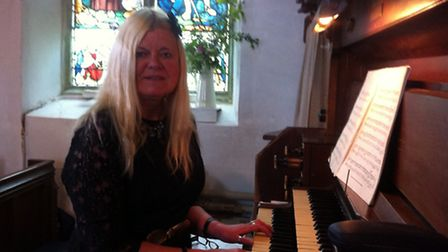 Organist Ros Holden, who played music suitable for times of mourning during Aldborough Church's A Ma