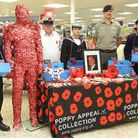 Exmouth Sea and Royal Marine Cadets helped sell poppies at the Exmouth Tesco's Salterton Road store