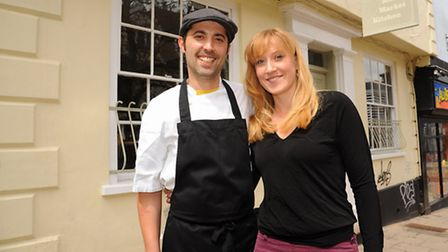 Suhayla Bewley and Stewart Duffield at their newly opened restaurant, The Maddermarket Kitchen. Pict