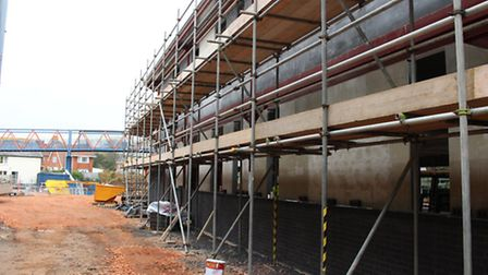 Building work underway at Exmouth Community College.