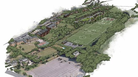 Blue Cedar Homes' initial proposal for the former Rolle College playing fields, subject to change af