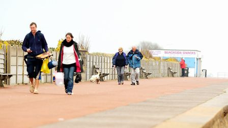 Great Yarmouth esplanade North of Britannia Pier where the council plans to allow cycling.Picture: J