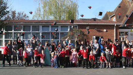 Exeter Road primary school celebrate families graduation of the FAST scheme