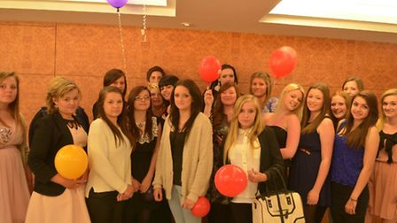 City College Norwich year nine to 11 hairdressing pupils at their Pre-16 course celebration evening