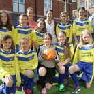 Franklins on the Strand have sponsored one lot of new football kit for children at the Beacon primar