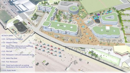 Draft Exmouth seafront proposals produced by developer Moirai in 2015.