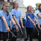 Withycombe Raleigh primary school's percussion band Stomp are pictured performing in front of their