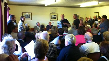 Packed-out Horsford Parish Council meeting sees local residents oppose development of 125 homes from