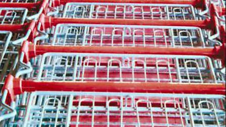 Rows of shopping trolleys