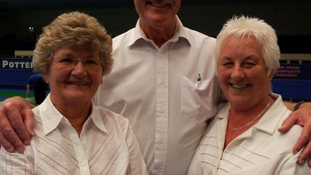 Champions: Kerry Greenacre, Mike Boswell and Diane Boswell.