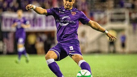 Dom Dwyer in action for Orlando City during his loan spell. Picture: Jon Lorentz/Orlando City SC