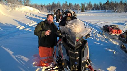Chris Marish (left) was one of six Samaritans to brave the Arctic challenge in Sweden