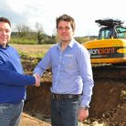 Credo Asset Finance's Simon Gray, left and Anglian Plant's Joe Paterson who have come together to fu