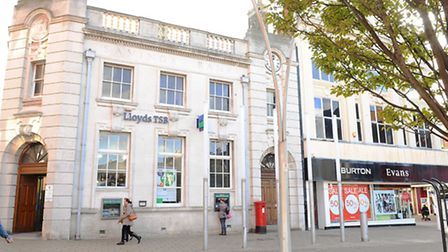 Lloyds bank next door to the clothing store Burton and Evans in Great YarmouthPicture: James Bass