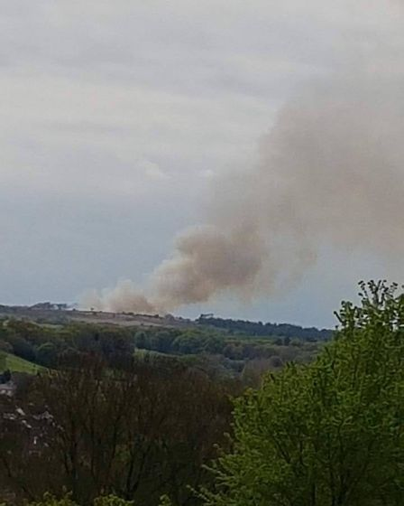 Zoe Adey took these photos of a fire on Woodbury Common from her yard in Harpford - five miles away.