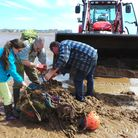 Volunteers helping to clean the Exe Estuary, in Exmouth. picture: Steph Clark