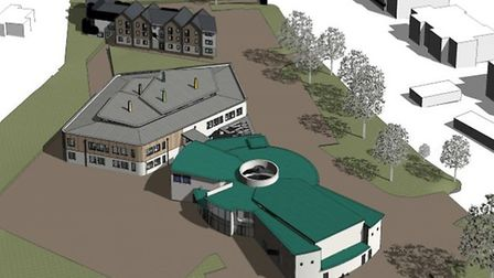 Image of the Exeter Deaf Academy proposal for the Rolle College site.