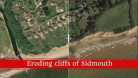 Changing cliffs of Sidmouth photo slider.