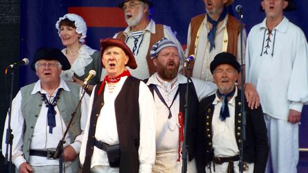 The Exmouth Shanty Men at the Exmouth Festival 2017. Picture: Paul Strange.