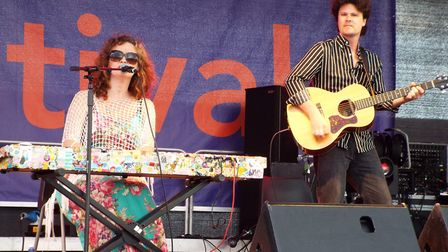 Kathryn Roberts and Sean Lakeman at the Exmouth Festival 2017. Picture: Paul Strange.