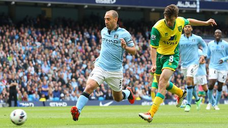 Jonny Howson's match-winning strike to sink Manchester City 3-2 helped propel the Canaries two further places up the final...