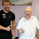John Flockhart - who has lost 2stone and reversed Type 2 Diabetes - with Corin Bryant, Exmouth Leisu
