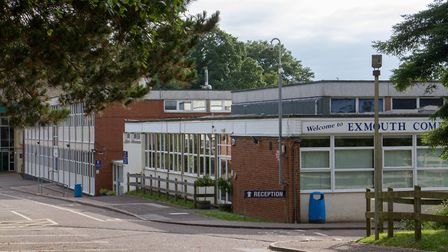 Part of the building due for replacement at Exmouth Community College. Ref exe 27-17TI 6550. Pictur