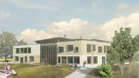 Image of the proposed main Exeter Deaf Academy building at Exmouth's Rolle College site.
