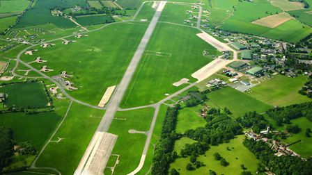 Aerial view of RAF Coltishall.; Picture taken by Mike Page.