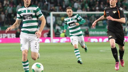 Ricky van Wolfswinkel insists he has not taken a step down swapping Sporting Lisbon for Norwich. Pic