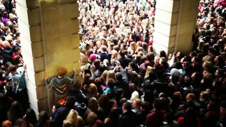 Tanya Burr attracted lots of fans at Covent Garden. Picture: Ellie Poole