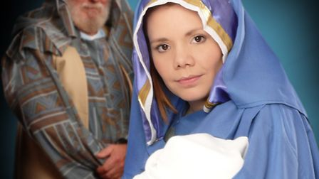 Rebcca Wass as Mary in the Mundesley Pageant