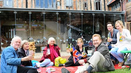 Picnickers enjoying the King Street Big Lunch and Jubilee celebrations at Dragon Hall in 2012. Pictu