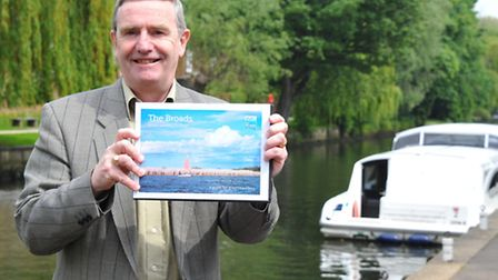Broads Authority tourism officer Bruce Hanson with the new green guide.PHOTO BY SIMON FINLAY