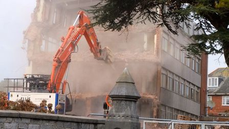 Bolldozers knocking down the former Rolle College site to make way for the Deaf Academy due to open
