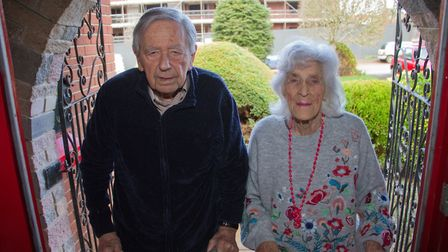 Olly and Iris Goss are upset about a new development taking place. Ref exe 03 18TI 6417. Picture: Te