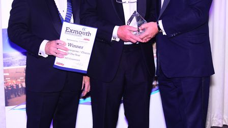 Flashback: at the Exmouth Business Awards 2017, the Social Enterprise/Charity of the Year award - sp