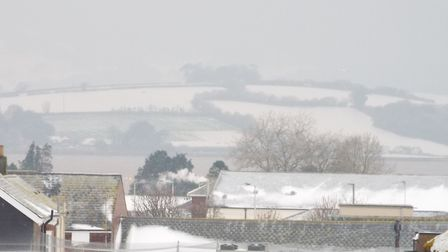 Snow on Starcross and beyond, March 2, 2018. Picture: Paul Strange.