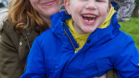 Santina Taylor and her son Dylan. Ref exe 07-18TI 7736. Picture: Terry Ife
