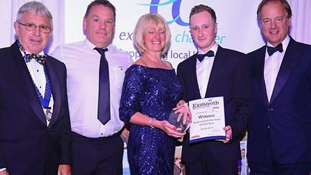 Exmouth Business Awards 2017. Clinton Devon Estates sponsored last year's category for Best Professi